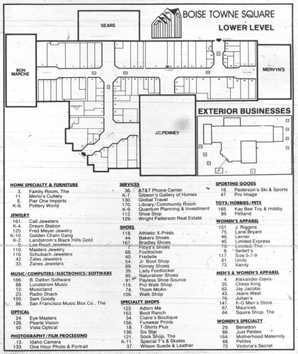 Boise Towne Square Mall Map | compressportnederland