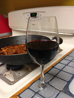 Beef Vindaloo and wine | by ewen and donabel