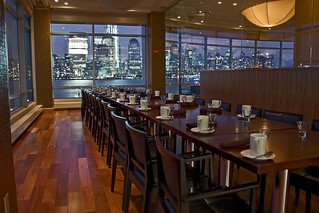 Hyatt jersey city private dining room with views of for Best private dining rooms nj