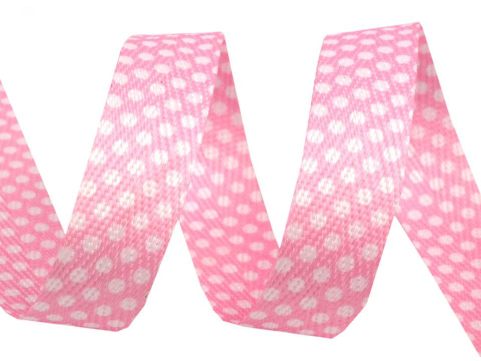 "Köperband ""Tupfen"" 18mm, rosa"