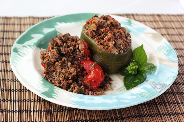 Crock-Pot Stuffed Tomatoes and Peppers - Gluten-free + Dairy-free (w/ Oven Option)