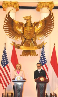 Secretary Clinton With Foreign Minister Natalegawa in Indonesia | by U.S. Department of State
