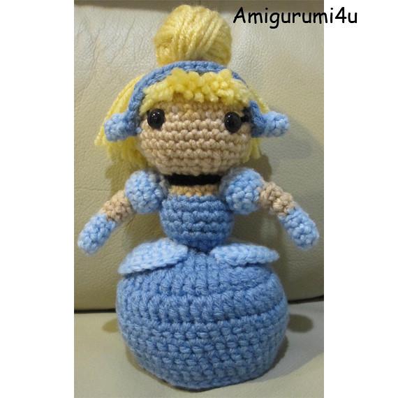 Cinderella Disney Princess Handmade Amigurumi Crochet Doll ...