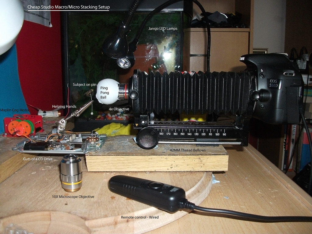 Cheap Macro Micro Studio Stacking Photography Setup Flickr