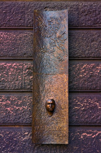 Prague : Memorial plaque with Jan Palach's death | by Pantchoa