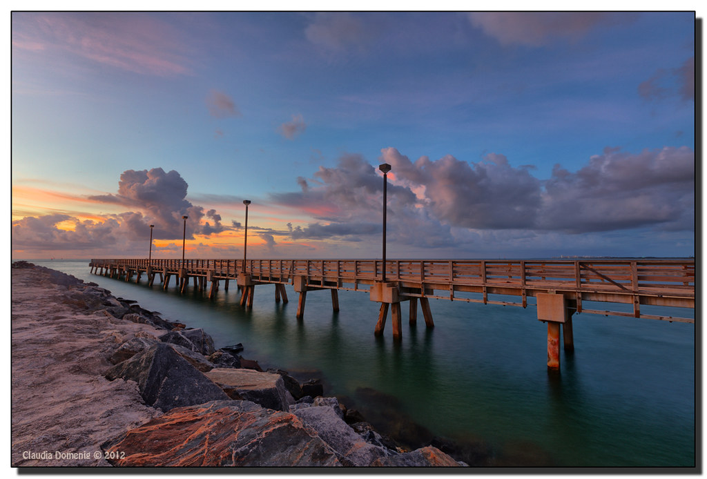 The fishing pier south pointe miami beach fl this is for Miami fishing piers