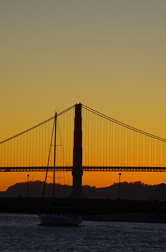 San Francisco, the Golden Gate Bridge at Sunset from the Marina 23 | by paspog