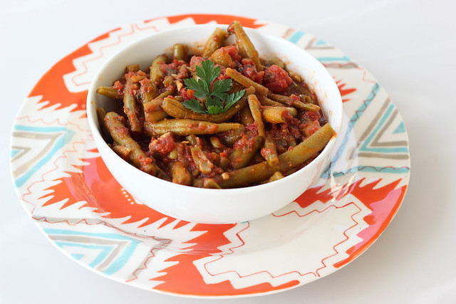 Fasolakia Freska (Greek Green Bean Stew) - Gluten-free (Vegan option)