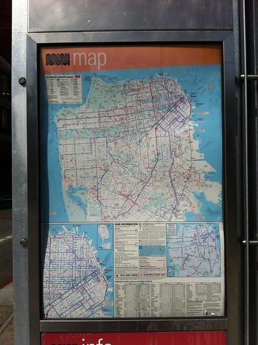 The map on the bus stop | by aircoooled karma