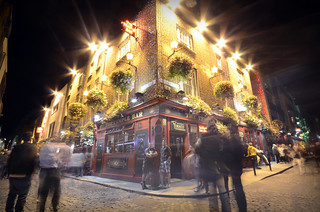 Temple Bar at night, Dublin, Ireland | by Dragos Cosmin- Getty Images Artist