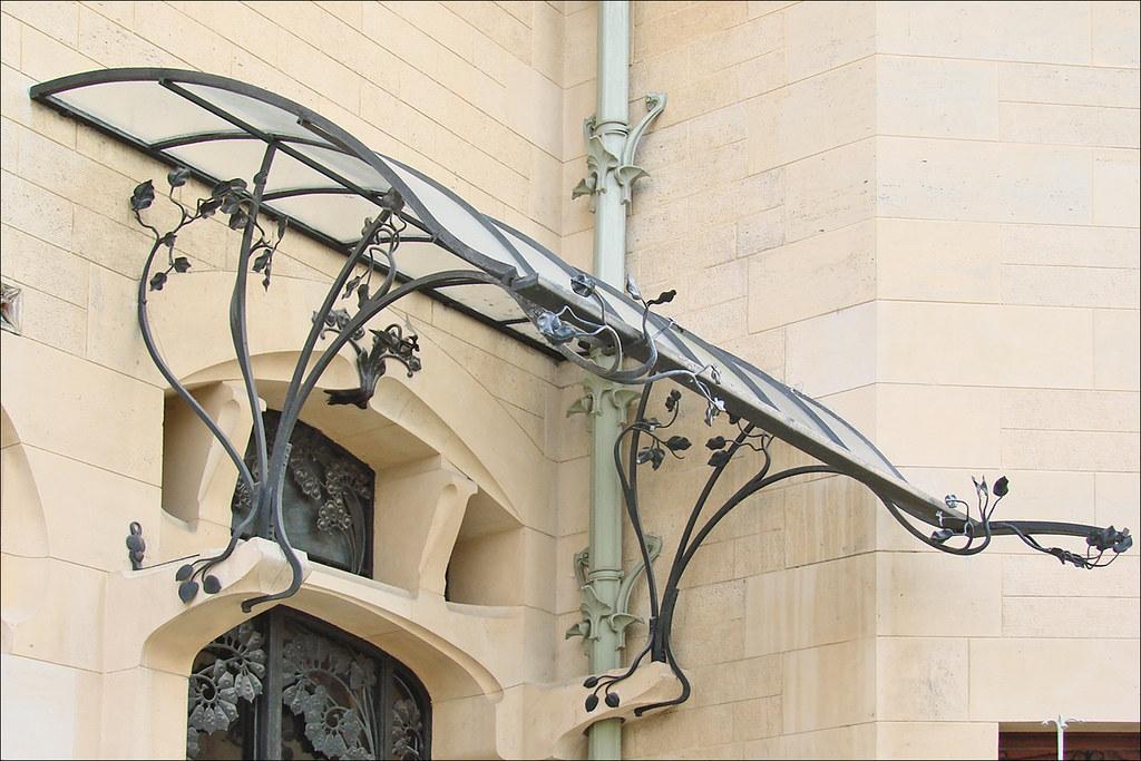 La marquise de l 39 entr e de la villa majorelle nancy flickr for Porte villa en fer