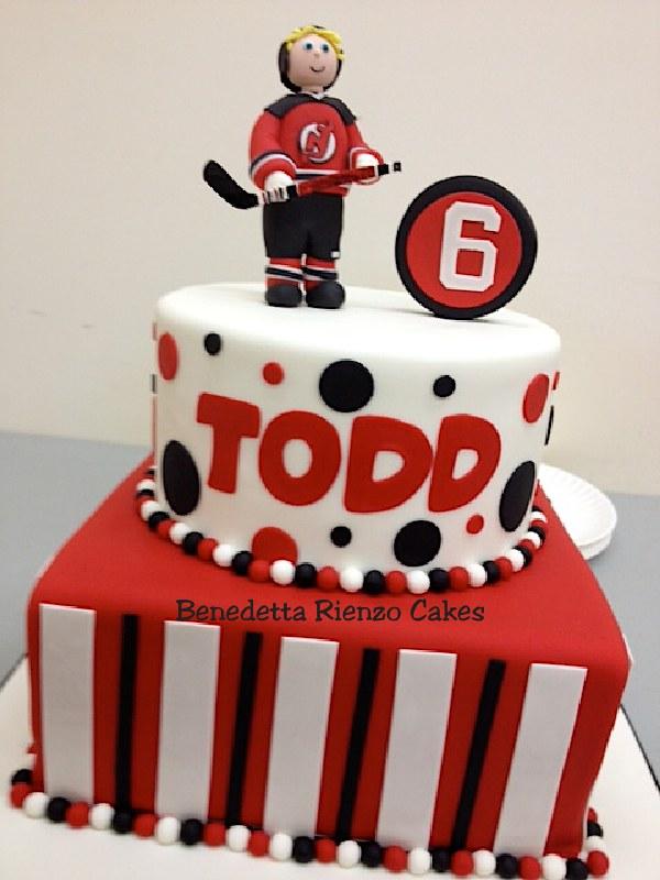 Nj Devils Hockey Birthday Cake Benni Rienzo Flickr