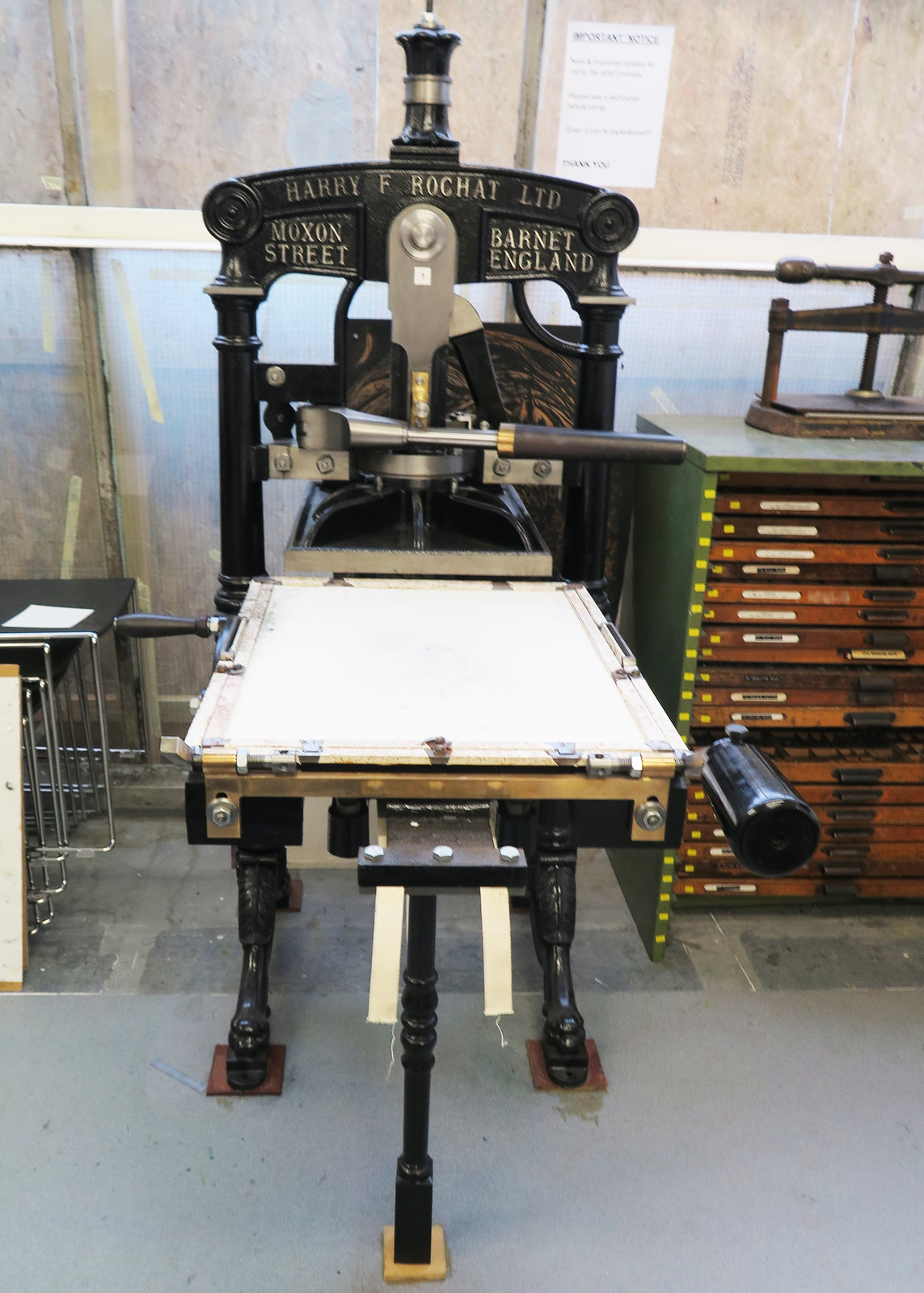 Beautiful old printing press