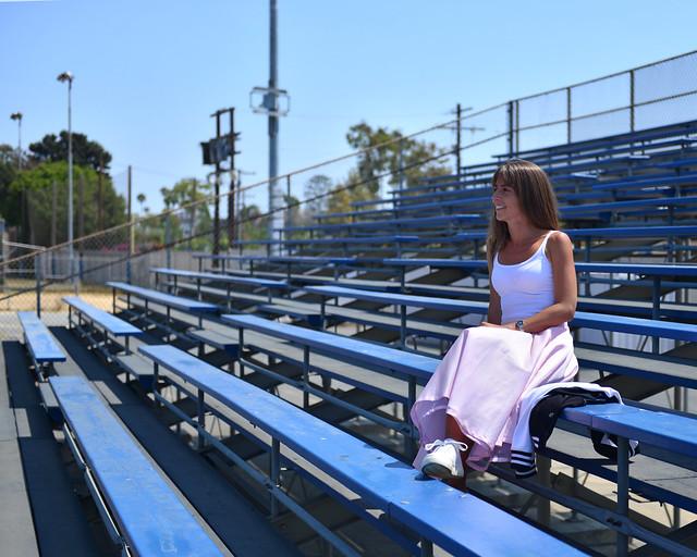 Grada del instituto de Grease en Los Angeles