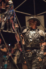 Sid, officiating Thunderdome fights at Burning Man 2012
