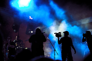 Stage, rap, camera and mist | by gabrielsaldana