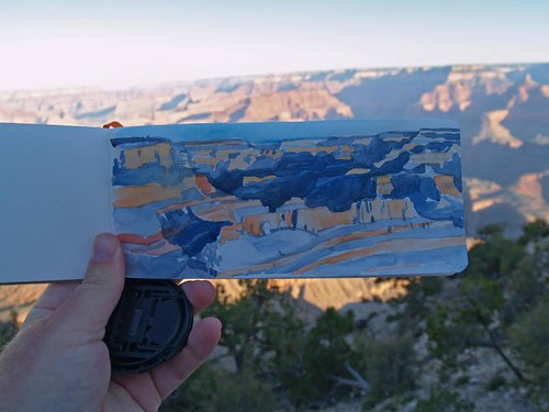 grand canyon watercolor | by paul heaston