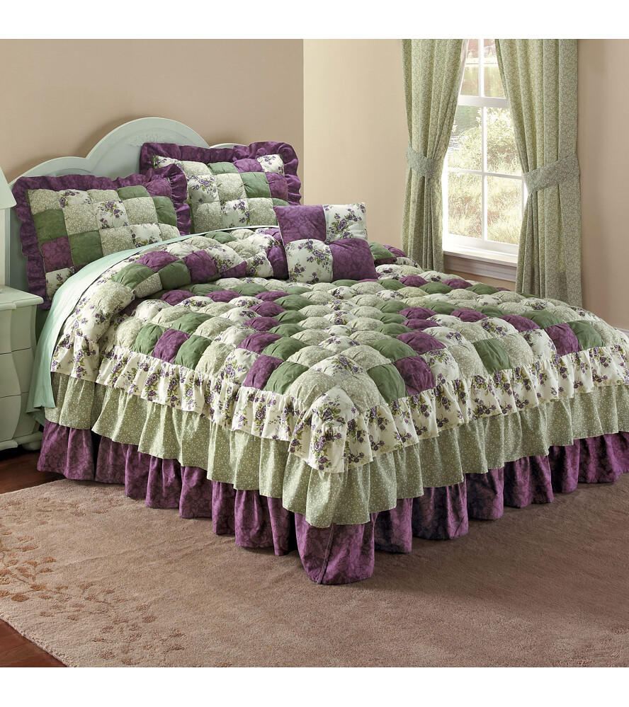 Alexis Puff Top Printed Bedspread Pretty As A Picture