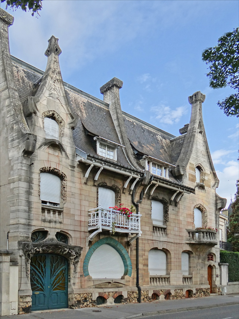 Maison huot de style art nouveau nancy fa ade de la for Architecte 3d wiki