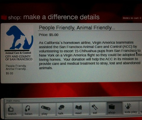 I donated $5.00 to the SF, SPCA  @ about 24K feet in the air..;) | by Σταύρος