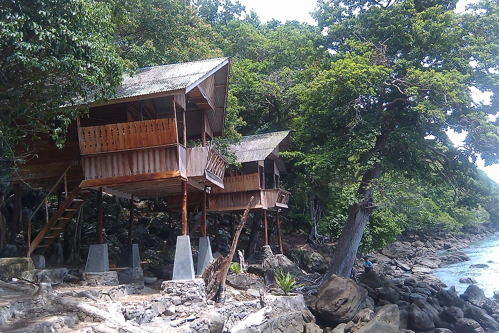 Cabins on stilts iboih beach pulau weh indonesia rebecca Log cabin homes on stilts