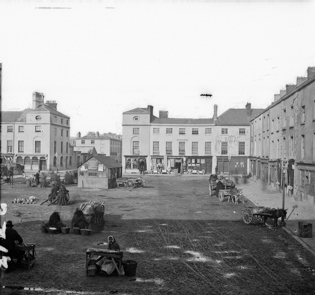 Mystery Market = Grattan Square, Dungarvan! | by National Library of Ireland on The Commons