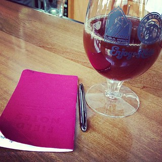 Pairing my notebook with my beer. | by bump