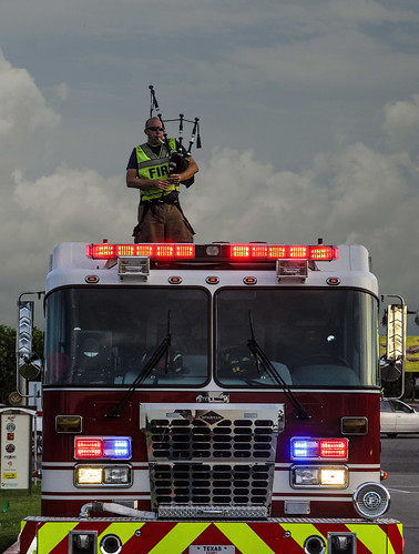 Round Rock Firefighter plays bagpipes 2 | by Jason Bo