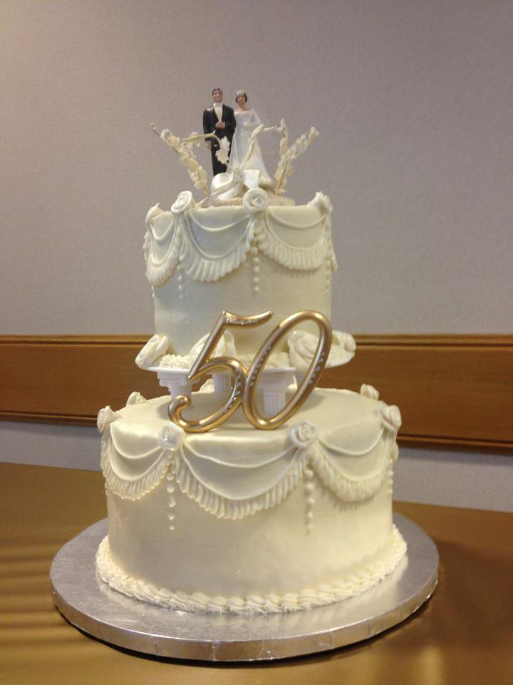 50th Anniversary Wedding Cake | Stephanie Dedrick | Flickr