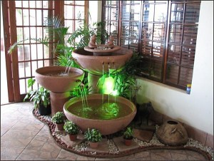 Indoor water fountains indoor water fountains this - Water feature inside house ...