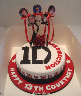 Cake Art N R Colony : One direction cake This cake was a lovely Vanilla Butter ...