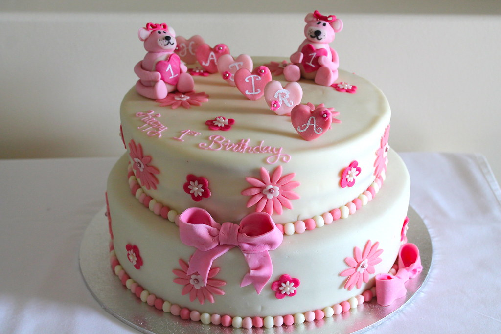 Plain White Birthday Cake