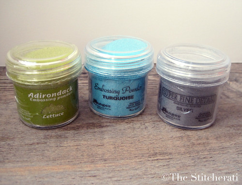 Embossing powders | by thestitcherati