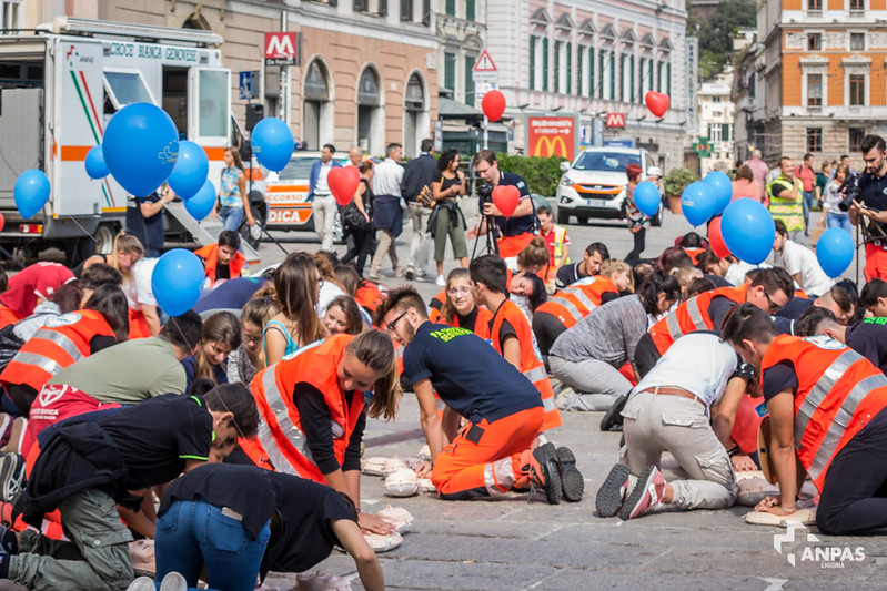 Il flash mob a Genova