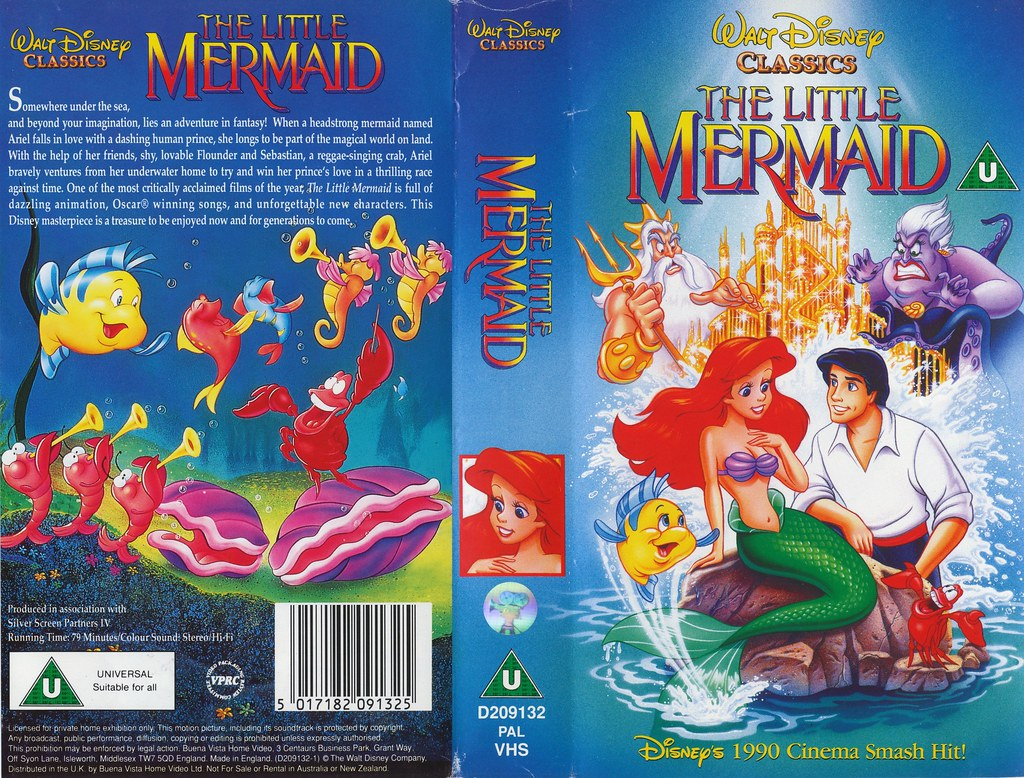 Quot The Little Mermaid Quot 1989 Uk Vhs 1991 Exterior Jacket