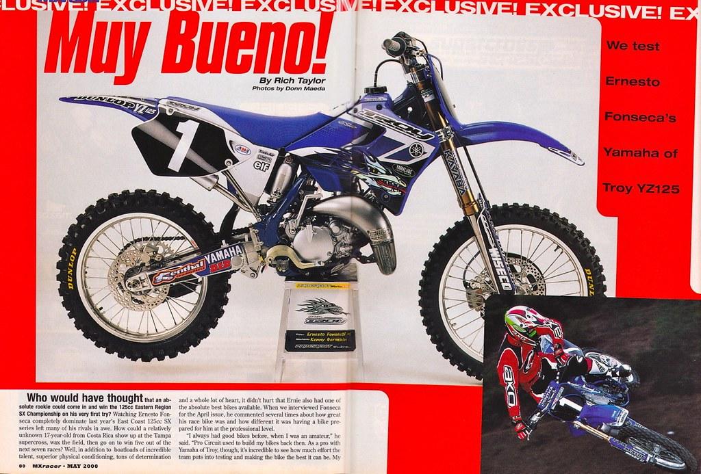 Ernesto fonseca 39 s 2000 yamaha of troy yz125 tony blazier for Yamaha of troy