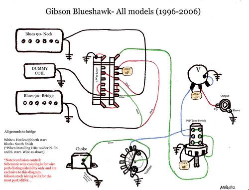 Blueshawk Wiring Diagram Schematic Gibson Color