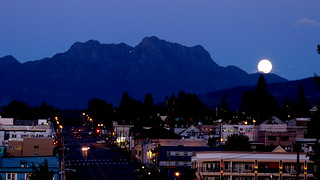 Blue moon over Mount Arrowsmith | by Sandy McRuer