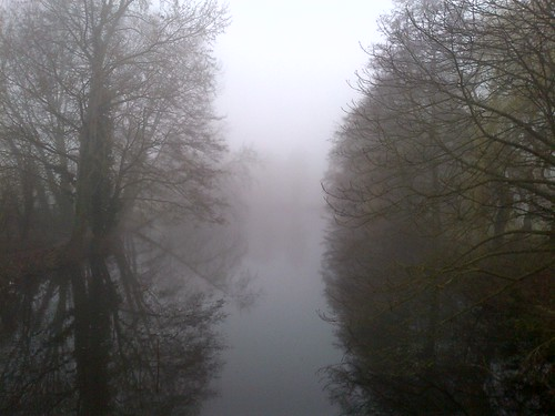 Mist on the lake at Whiteknights campus | by Rod1871