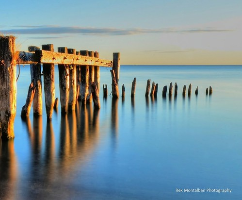 abandonned pier in winona just outside grimsby | by Rex Montalban Photography