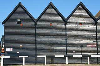 Wooden huts in Whitstable | by Umberto Luparelli