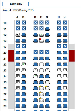 American Airlines 767 Seating Chart Seating Chart Of An