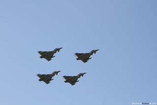 RAF Leuchars Airshow 2012 - 4 Typhoon FGR4's fly over RAF Leuchars | by Scotsman_in_Hawaii