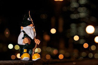 261/365  The Gnome Downtown@Night | by zoosee