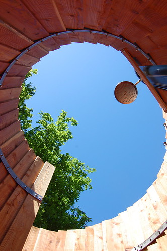 The snail shell solar shower | by ecovallee