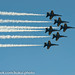 Blue Angels arrive at MCBH in delta formation #2012 #Photography #BlueAngels