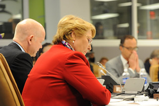 "UN Women Executive Director Michelle Bachelet co-hosts the high-level event ""Preventing Sexual Violence and Gender-based Crimes in Conflict and Securing Justice for Survivors"" 