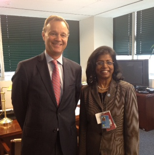 UK Minister Mark Simmonds with the UN Under-Secretary-General, Ameerah Haq, at the UN General Assembly | by UKUnitedNations