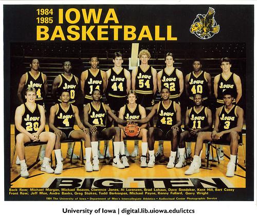 1984 1985 Iowa Basketball Team The University Of Iowa 19