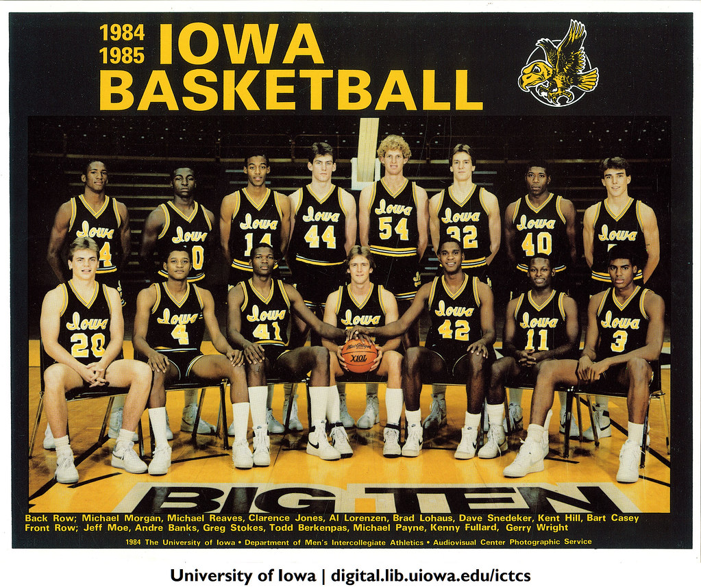 1984-1985 Iowa basketball team, The University of Iowa, 19 ...